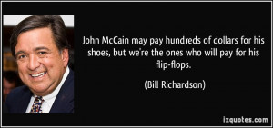 John McCain may pay hundreds of dollars for his shoes, but we're the ...
