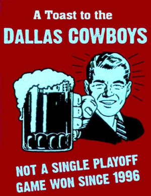 Hate the Dallas Cowboys funny sign by Paul Van Scott, Palm Bay