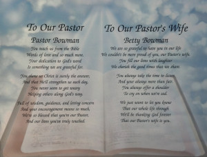 ... PASTOR & WIFE PERSONALIZED POEMS GIFT FOR PASTOR APPRECIATION FOR
