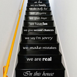 Quotes for Staircases to Suit the Color of the Stairs!
