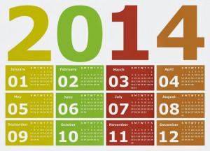 Colorful Calendar 2014