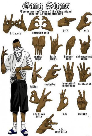 All Graphics » blood gang signs