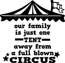 Our Faimly Circus Funny Home Decor vinyl wall decal quote sticker ...