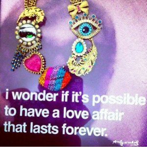 Betsey johnson eveil eye necklace and andy warhol quote