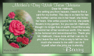 Mother's Day Wish From Heaven
