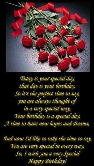 Today is Your Special day ~ Birthday Quote