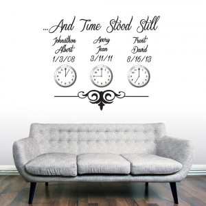 Custom Time Stood Still - Wall Decals