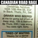 Road Rage Begins Early…