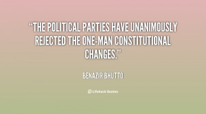 The political parties have unanimously rejected the one-man ...