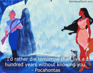 Love Quotes: www.romancestuck.com/quotes/disney-quotes.htm #Pocahontas ...
