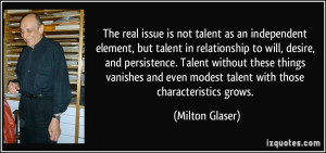 The real issue is not talent as an independent element, but talent in ...