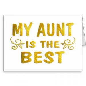 Best Aunt Celebrate...