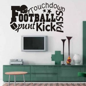 Vinyl Wall Quotes Word Art Collage Football