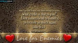 BIBLE QUOTES Luke 6:34 HD-WALLPAPERS FREE DOWNLOAD And if you lend to ...