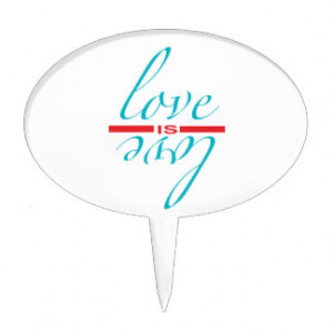 Love Quotes Cake Toppers