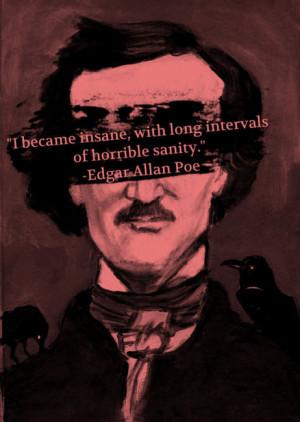 quote lit insane Edgar Allan Poe sanity