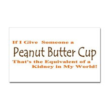 Peanut Butter Cup/Kidney Sticker (Rectangle) for