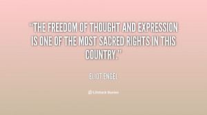 The freedom of thought and expression is one of the most sacred rights ...