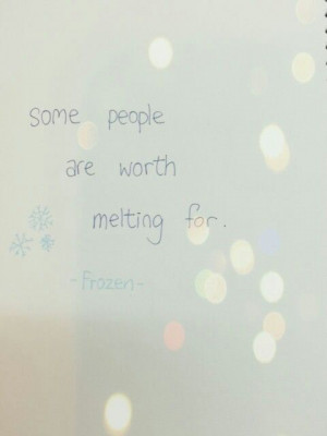 Frozen # quote by olaf