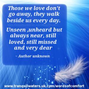 Words of Comfort Poems Grief