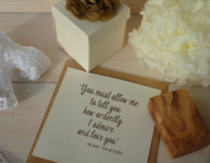 Individual Pride and Prejudice Quotes - Olive Wood Stamp
