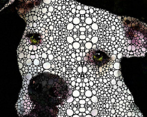 Dog Art Print From Painting Cute Dogs Pittie Pit Bull Pitty Pitbull ...