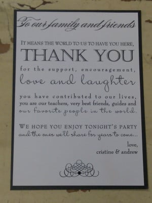 Gallery of Wedding Program Thank You Wording Customization