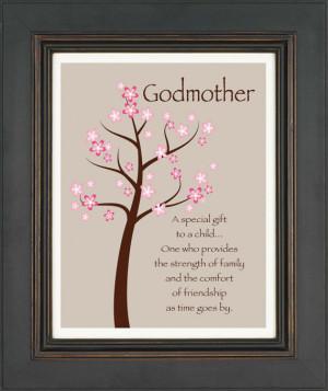 Godmother Gift - Gift from Godchild - Custom Print Wall Art -Gift for ...
