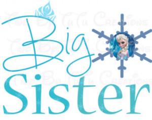 Frozen Anna Elsa Big Sister Printab le Image for Iron On Transfer DIY ...