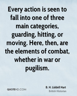 Every action is seen to fall into one of three main categories ...