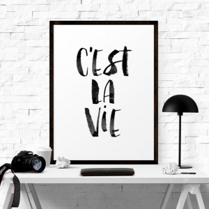 home decor, motivational quote, wall art, wall decor, typography print ...