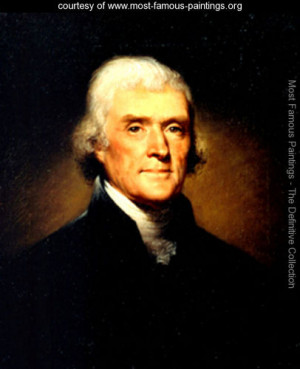 ... of Thomas Jefferson - Rembrandt Peale - www.most-famous-paintings.org