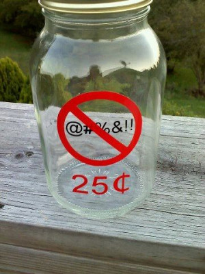 Authentic No Swearing Jar Piggy Bank by VinylDecalsandGlass, $10.00