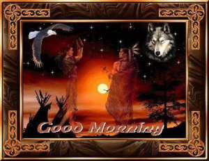All Graphics » good morning native american