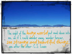 Travel Quotes I Love~C.S. Lewis