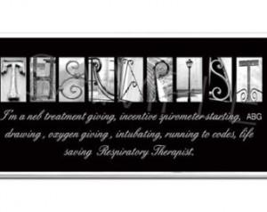 Respiratory Therapist Plaque blac k & white letter art ...