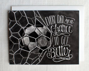 Soccer Card, Soccer Coach Gift, Motivational Quote, Chalkboard Art ...