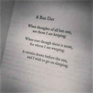 Bad Day by Lang Leav