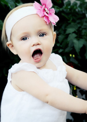 Cute Little Girl Open Mouth