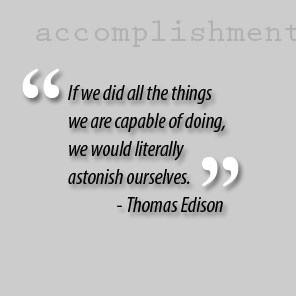 No accomplishment is too small !!