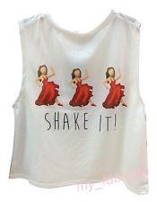 EMOJI ICONS ♥ SHAKE IT Ladies Top T Shirt UK 6 20 Primark