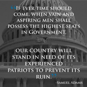 Samuel Adams quote, very apropos now.... God, please have mercy on our ...