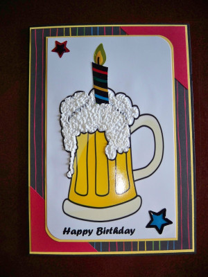 happy birthday beer candle