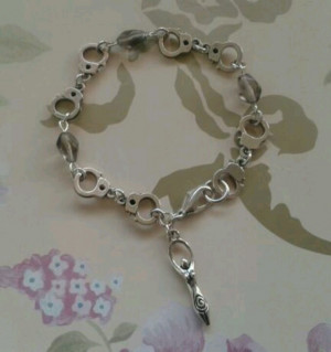 My handmade 50 Shades of Grey 'Inner Goddess' bracelet :-)