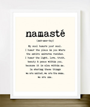 Namaste Quote Typography Art Print by Merci Merci modern-prints-and ...