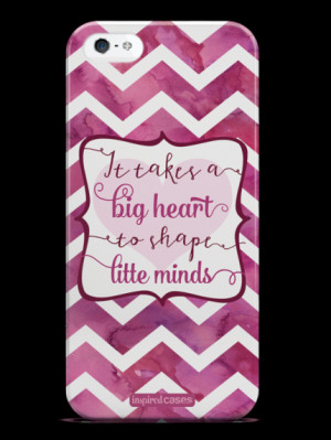 ... It Takes a Big Heart Quote Inspirational Saying Case for iPhone 5 & 5s