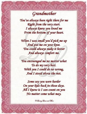 grandma poems | Grandmother poem is for the grandmother who has loved ...