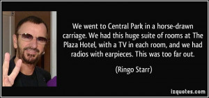 We went to Central Park in a horse-drawn carriage. We had this huge ...
