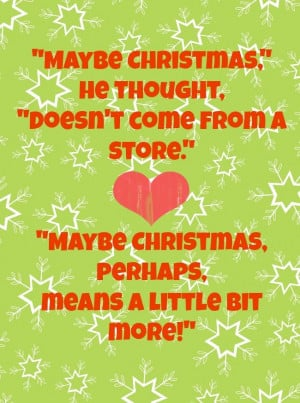 Free Christmas Printable: Dr. Seuss's The Grinch Quote. Plus Today ...