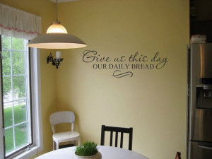 our daily bread Scripture 32x10 Vinyl Decal Wall Art Lettering Quote ...